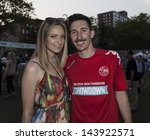 NEW YORK - JUNE 26: Sacha Kljistan and Jamie Lee Darley attend at The Sixth Steve Nash Foundation Showdown at Sarah D. Roosevelt Park on June 26, 2013 in New York City. - stock photo