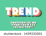 vector trend font 3d bold style ... | Shutterstock .eps vector #1439233301