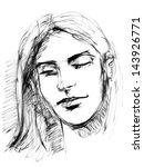 face. hand drawn. jpeg version | Shutterstock . vector #143926771