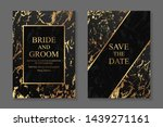 wedding invitation design or... | Shutterstock .eps vector #1439271161