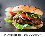 big sandwich   hamburger burger ... | Shutterstock . vector #1439284097