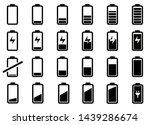 battery symbol collection... | Shutterstock .eps vector #1439286674