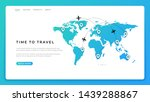 travel landing page. world map...   Shutterstock .eps vector #1439288867