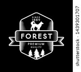 forest negative space logotype... | Shutterstock .eps vector #1439301707