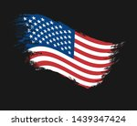 the flag of grunge of the... | Shutterstock .eps vector #1439347424