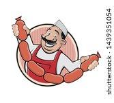 Funny Cartoon Sign Of A Butche...