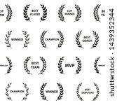sport awards and best nominee... | Shutterstock .eps vector #1439352344
