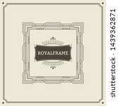 invitation frame. vintage... | Shutterstock .eps vector #1439362871