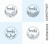 hand drawn floral ornament... | Shutterstock .eps vector #1439377427