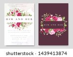 beautiful wedding invitation... | Shutterstock .eps vector #1439413874