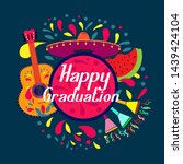 happy graduations  beautiful... | Shutterstock .eps vector #1439424104