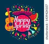 happy spring  beautiful... | Shutterstock .eps vector #1439424107