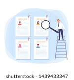 resume searching new job...   Shutterstock .eps vector #1439433347