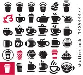 coffee cup icons set | Shutterstock .eps vector #143944477
