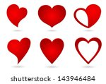 heart abstract icon | Shutterstock . vector #143946484