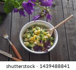 potato salad in a large...