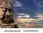 bayon stone faces of the people ... | Shutterstock . vector #143949691