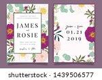 summer flower wedding... | Shutterstock .eps vector #1439506577