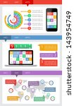 ui  infographics and web... | Shutterstock .eps vector #143954749
