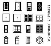 door and window vector | Shutterstock .eps vector #143956831