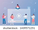 people watching and sharing... | Shutterstock .eps vector #1439571251