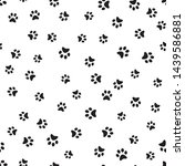 dog paw print seamless. traces...   Shutterstock .eps vector #1439586881