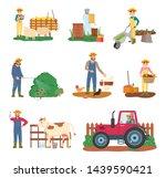 tending animals vector  people... | Shutterstock .eps vector #1439590421