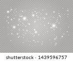 white sparks and golden stars...   Shutterstock .eps vector #1439596757