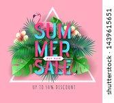 summer big sale typography...   Shutterstock .eps vector #1439615651
