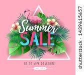 summer big sale typography...   Shutterstock .eps vector #1439615657