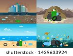 set of web banners with... | Shutterstock .eps vector #1439633924