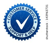 blue label customer service and ... | Shutterstock .eps vector #143963731