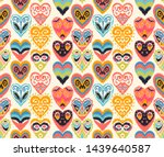valentine's day. seamless...   Shutterstock .eps vector #1439640587