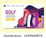 web page design templates for... | Shutterstock .eps vector #1439644874