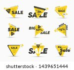 templates of vector black and... | Shutterstock .eps vector #1439651444