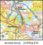 charleston  south carolina area ... | Shutterstock .eps vector #143966191