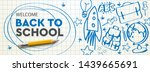 welcome back to school... | Shutterstock .eps vector #1439665691