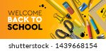 welcome back to school... | Shutterstock .eps vector #1439668154