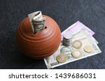 Kids Piggy Bank Or Coin  Stack...