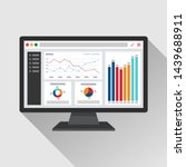 web analytic information on... | Shutterstock .eps vector #1439688911