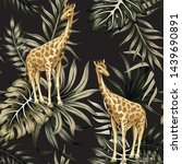 tropical vintage wild animal... | Shutterstock .eps vector #1439690891
