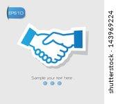 shake hand symbol vector | Shutterstock .eps vector #143969224