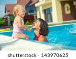 summer vacation. pretty little... | Shutterstock . vector #143970625