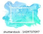 soft pastel metallic background.... | Shutterstock .eps vector #1439737097