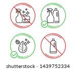 do or stop. cleanser spray ... | Shutterstock .eps vector #1439752334