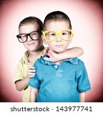 embrace the twins isolated on... | Shutterstock . vector #143977741