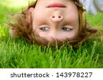 happy little boy standing... | Shutterstock . vector #143978227