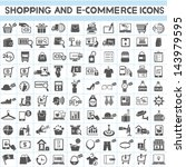 shopping, marketing and e-commerce icon set, 100 icons