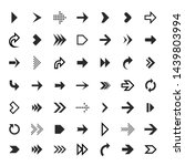 arrows collection. black arrow... | Shutterstock .eps vector #1439803994