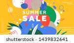 summer sale trendy banner... | Shutterstock .eps vector #1439832641